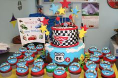 Another cars birthday cake.