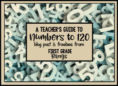 How I get my students to master Numbers to 120. Blog post with tips, tricks, and freebies!