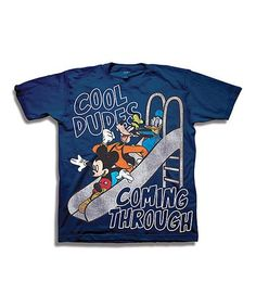 Another great find on #zulily! Mickey Mouse & Friends Navy 'Cool Dudes' Tee - Toddler #zulilyfinds
