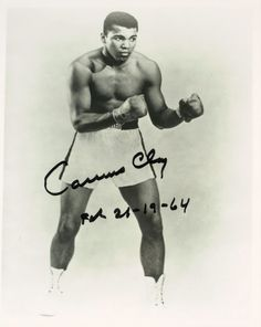 "Hvywgt Champ Muhammad Ali Photo Signed ""Cassius Clay"" RARE 