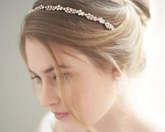 Avery Floral Headband Shop bridal hair accessories in rose gold. Wedding headband has a nature inspi Floral Headband Wedding, Floral Headbands, Gold Hair Accessories, Wedding Accessories, Rose Gold Hair, Rose Gold Headband, Wedding Hair Pieces, Bridal Headpieces, Wedding Hairstyles