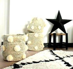 - Decoration Fireplace Garden art ideas Home accessories Diy Home Crafts, Diy Arts And Crafts, Diy Home Decor, Room Decor, Rope Basket, Basket Decoration, Dollar Store Crafts, Crochet Home, Home Accessories