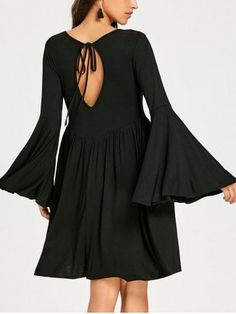 GET $50 NOW   Join RoseGal: Get YOUR $50 NOW!https://www.rosegal.com/long-sleeve-dresses/cut-out-bell-sleeve-mini-swing-dress-1548505.html?seid=4695937rg1548505