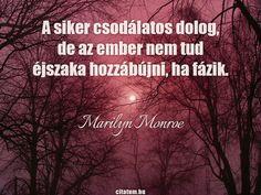 Marilyn Monroe idézete a sikerről.