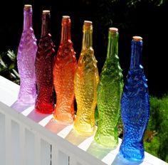 204 Best Color Glass Bottles Images In 2019 Glass Bottles