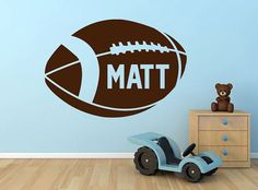Window & Wall Vinyl   Football Custom Name 18x125 by aubreyheath, $18.00