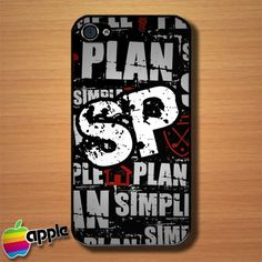 Simple Plan Red White SP Pop Punk Band Logo Custom iPhone 4 or 4S Case This would so be my phone case...if I had that type of phone...