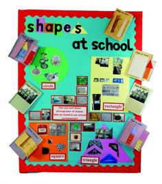 Shapes at School &; investigate shapes by exploring &; Shapes at School &; investigate shapes by exploring &; Adrienne evans School Shapes at School &; investigate shapes by […] day nursery hunts cross Year 1 Maths, Early Years Maths, Early Years Classroom, Early Math, Maths Eyfs, Eyfs Classroom, Preschool Math, Kindergarten, Maths Classroom Displays