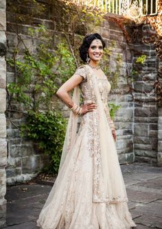 Indian Fusion Wedding Attire.She is a absolought stunner , this wedding suit really compliments her body.