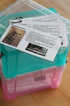 Famous People Cards - great idea for many subjects!