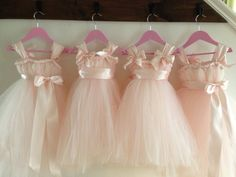 ADORABLE!  Blush flower girl dress with ice pink accents. NB-4T. $55.00, via Etsy.
