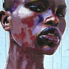Contemporary black woman portrait painting by jimmy law Kunst Inspo, Art Inspo, Art And Illustration, Figure Painting, Painting & Drawing, Painting Canvas, Jimmy Law, Figurative Kunst, Creation Art