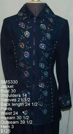 Black blinged SMS Jacket