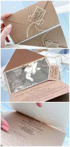 Invitation cards - 5 pieces of wedding invitations with rustic photo - a design . Invitation cards - 5 pieces of wedding invitations with rustic photo - a unique product by invitationZurHochzeit on DaWa. Simple Wedding Invitations, Rustic Invitations, Wedding Invitation Cards, Trendy Wedding, Rustic Wedding, Wedding Cards Handmade, Wedding Planning, Destination Wedding, Wedding Decorations
