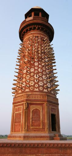 Elephant tower - Fatehpur Sikri, those are plaster casts of elephant tusks as the originals were removed.
