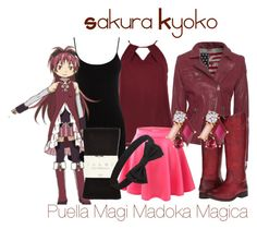 """""""Sakura Kyoko"""" by anime-addict10 ❤ liked on Polyvore featuring True Religion, Oasis, Frye, Falke, Kate Spade and Forever 21"""