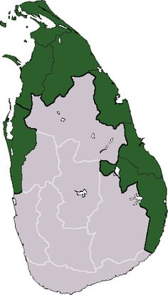 Area that is claimed for Tamil Eelam