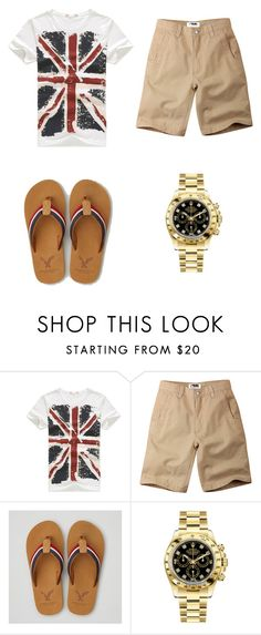 """""""England #29"""" by kreepykitten on Polyvore featuring Mountain Khakis, American Eagle Outfitters, Rolex, men's fashion and menswear"""