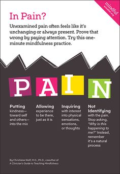 Chronic pain affects more people in the US than diabetes, heart disease, and cancer combined: more than 100 million adults. Mindfulness exercises can help.