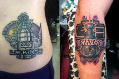 Kings Tattoos via Smell the Glove King Tattoos, La Art, Tattoo Designs, Tattoo Ideas, Skin Art, Glove, Hockey, Design Ideas, City
