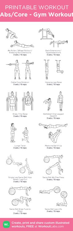 Abs/Core - Gym Workout – my custom workout created at WorkoutLabs.com