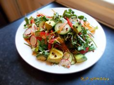 Avocado Radish and Sprout Salad