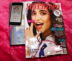 Favorite magazine & my music earphones. I listen to music everyday