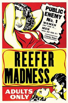 'Reefer Madness' Cult Classic Film vintage print
