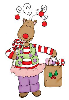 Free Dearie Dolls Digi Stamps: Candy the Reindeer