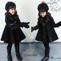 Estilo coreano de la manera dulce invierno Autume muchacha niño niños regalo de Navidad vestido de cálido chaquetas gruesas outwear abrigo abrigo
