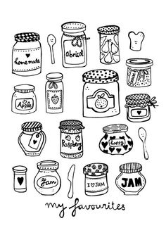 Jam jars illustration by Sjoesjoe