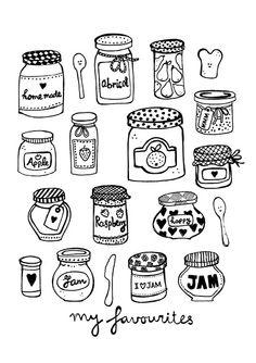 Jam jars illustration by Sjoesjoe