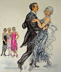 Illustration from Ella's Big Chance by Shirley Hughes Shirley Hughes, Tango Art, Children's Book Illustration, Book Illustrations, British Traditions, Face The Music, Shall We Dance, Ballet, Paintings I Love