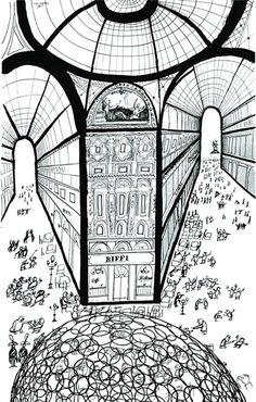 Saul Steinberg, Milano, Galleria Vittorio Emanuele