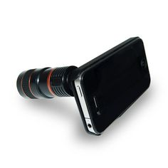 The iPhone 4 Eye Scope attaches to the device to add a high-powered zoom lens capable of capturing amazingly detailed images. $35 fab.com