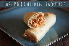 EASY BBQ Chicken Taquitos. So good!