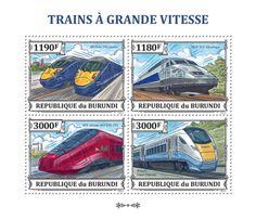 BUR 13312 aHigh speed trains, (BR Class 395 Javelin, SNCF TGV Atlantique, NTV Alstorm AGV ETR 575, Hitachi Super Express).