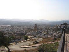 Vistas panorámicas de la ciudad de Vélez-Málaga, capital de la Axarquía.