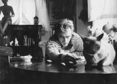 Elizabeth Taylor gave James Dean his Siamese kitten;  he named it Marcus (after his uncle).