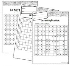 Correction table de multiplication et messages cod s - Reviser les tables de multiplications ce2 ...