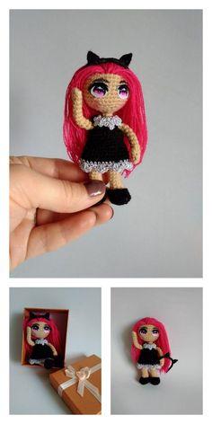 Amigurumi Pink Little Layd Free Pattern – Amigurumi Free Patterns And Tutorials Crochet Doll Pattern, Crochet Dolls, Amigurumi Patterns, Amigurumi Doll, 4 Ply Yarn, Mohair Yarn, Hello Dear, Free Crochet