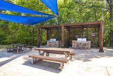 Serene at Woodlake for rent located in Athens, GA offers one and two bedroom floor plans. 2 Bedroom Floor Plans, Outdoor Picnic Tables, Enjoy The Sunshine, Bedroom Flooring, Athens, Apartments, Serenity, Pergola, Outdoor Structures