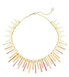 KAPLAN GOLD STATEMENT NECKLACE IN DICHROIC GLASS