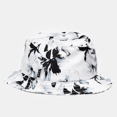 Huf Floral Bucket Hat - White £40