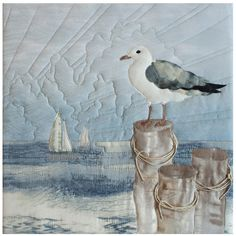Items similar to From the Coast with Love Quilt Pattern by McKenna Ryan, Gaining Perspective, Block 9 on Etsy Ocean Quilt, Beach Quilt, Vogel Quilt, Nautical Quilt, Landscape Art Quilts, Quilt Modernen, Applique Quilt Patterns, Keepsake Quilting, Fabric Postcards