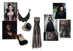 """My outfit for The Evil Queen #2"" by emma-swan12 ❤ liked on Polyvore featuring Marios Schwab, Once Upon a Time, sweet deluxe and David Yurman"