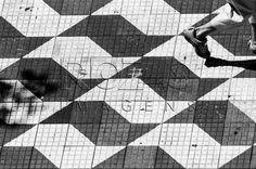 Calçada com o mapa de São Paulo - SP, 01/2014.