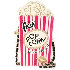 Betsey Johnson In A Jiff Popcorn Crossbody Bag ($49) ❤ liked on Polyvore featuring bags, handbags, shoulder bags, purses, accessories, fuschia, man bag, pink shoulder bag, pink handbags and betsey johnson crossbody