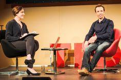 @Markus_Zusak with Fenella Kernebone   Studio   #TEDxSydney 2014
