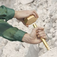 Brass tools and silk apparel for mining the world's most abundant mineral